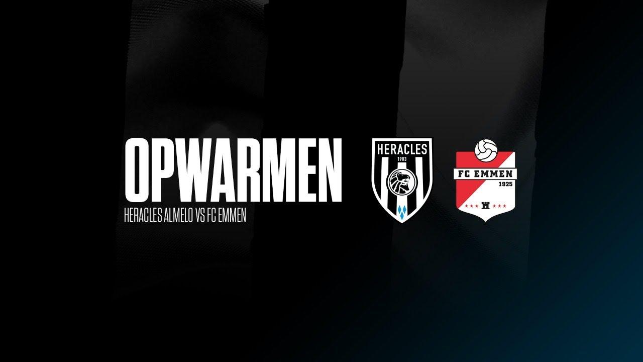 Opwarmen met Frank Wormuth & Reuven Niemeijer | Heracles Almelo - FC Emmen