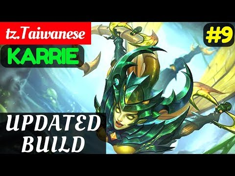 Updated Build [Rank 2 Karrie] | tz.Taiwanese Karrie Gameplay and Build #9 Mobile Legends