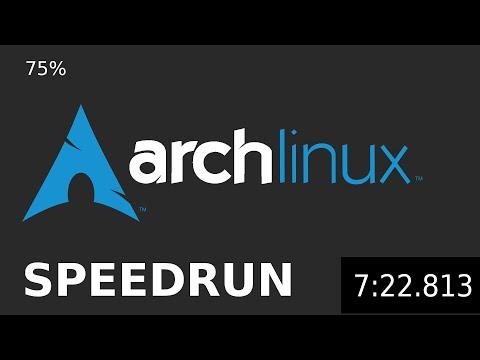 Arch Linux Install Speedrun (75%) with Desktop Environment