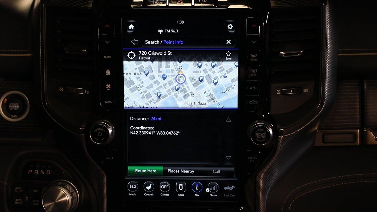 2019 Ram 1500 Ram Uconnect Navigation