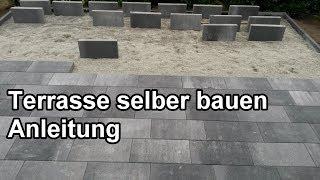 Terrasse bauen – Schritt für Schritt Anleitung - Steinterrasse selber machen / pflastern  / verlegen