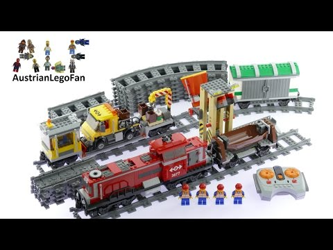 Lego City 3677 Red Cargo Train - Lego Speed Build Review