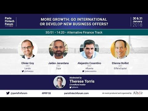 More growth: go international or develop new business offers? - Paris Fintech Forum 2018