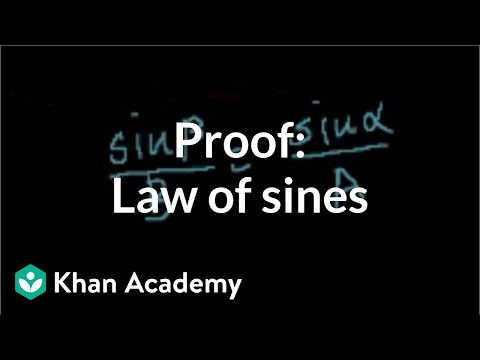 Proof: Law of sines   Trig identities and examples   Trigonometry   Khan Academy thumbnail