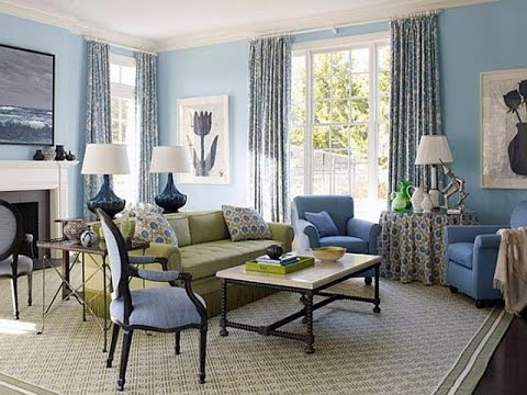 French Blue Living Room