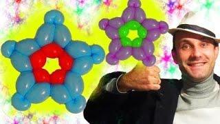 Звезда из шариков шдм аэродизайн ★ Star made of balloons(Интересная звездочка из шариков, которая делается из двух шариков шдм. Все просто. Смотрите мой видео урок...., 2014-10-31T20:51:31.000Z)