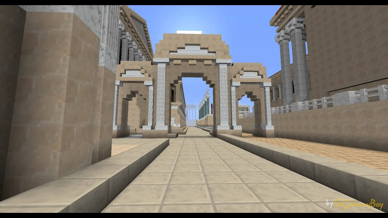 Minecraft Arch Of Augustus 18012012 YouTube
