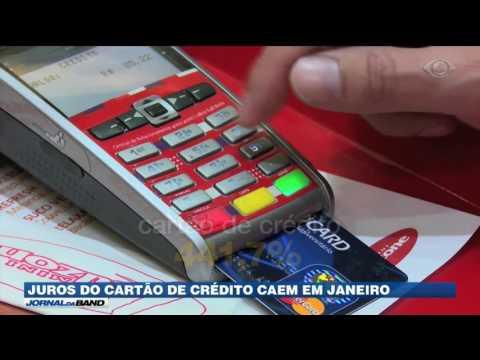 Juros do cartão de crédito caem em janeiro