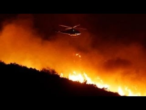 Ventura County wildfire doubles in size in 24 hours