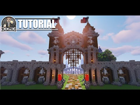 How to build Medieval Rustic City Gate Minecraft Tutorial
