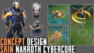 Design Skin Project : Nakroth Cybercore - Arena of Valor (AOV)