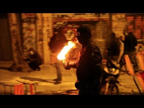"Anarchists in Athens ""welcome"" Barack Obama (Greece, 15 November 2016 Riot)"