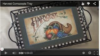 Harvest Cornucopia Tray Tole and Decorative Painting by Patricia Rawlinson