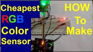 cheapest RGB color sensor,how to make rgb colour sensor using RGB LED and LDR
