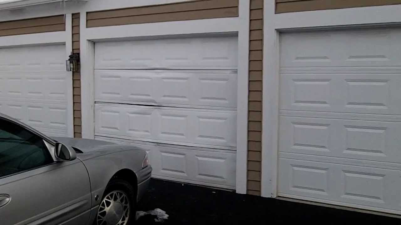 an emergency garage door repair we fixed in wheaton il