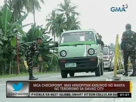 24 Oras: Mga checkpoint, mas hinigpitan kasunod ng banta ng terorismo sa Davao City