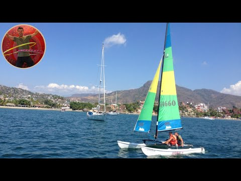 ALMOST CRASHED THE HOBIE CAT INTO A SAILING BOAT - Ep 19