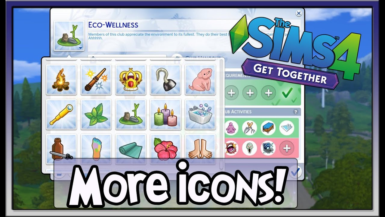 MORE Club Icons! The Sims 4 Get Together Mod by Zerbu ...