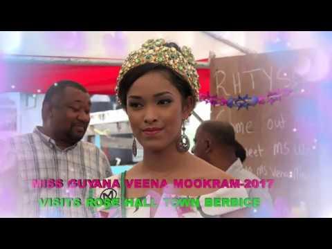Miss GUYANA VEENA MOOKRAM 2017  Visits ROSE HALL TOWN.