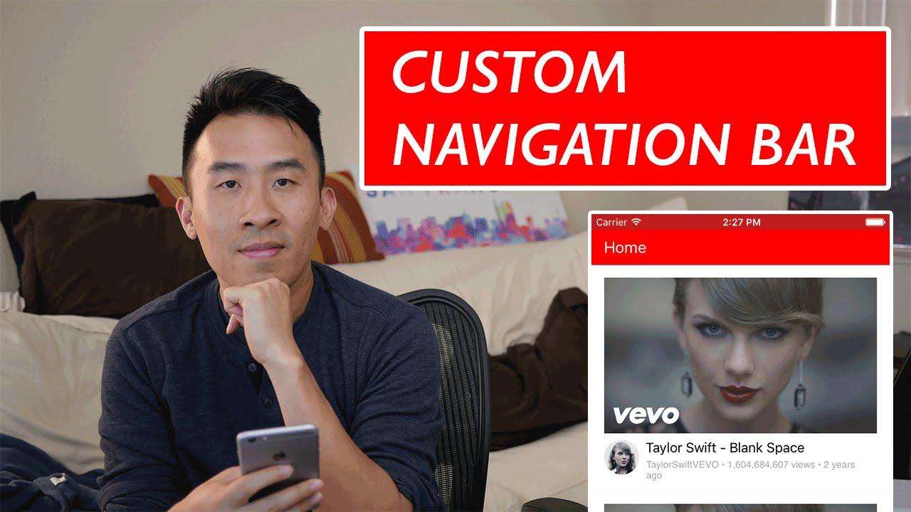 Swift: YouTube - Custom Navigation Bar and MVC Clean Up (Ep 2)