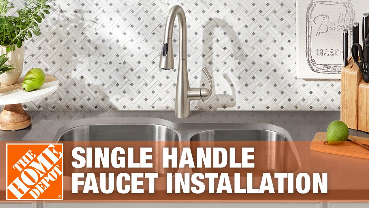 how to replace a kitchen faucet with a single handle the home depot