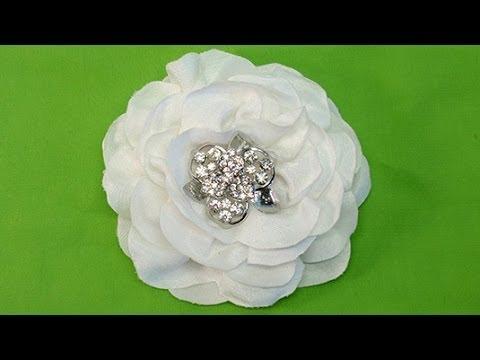 Diy Easy Fabric Flower One Of Fabric Tutorial Diy