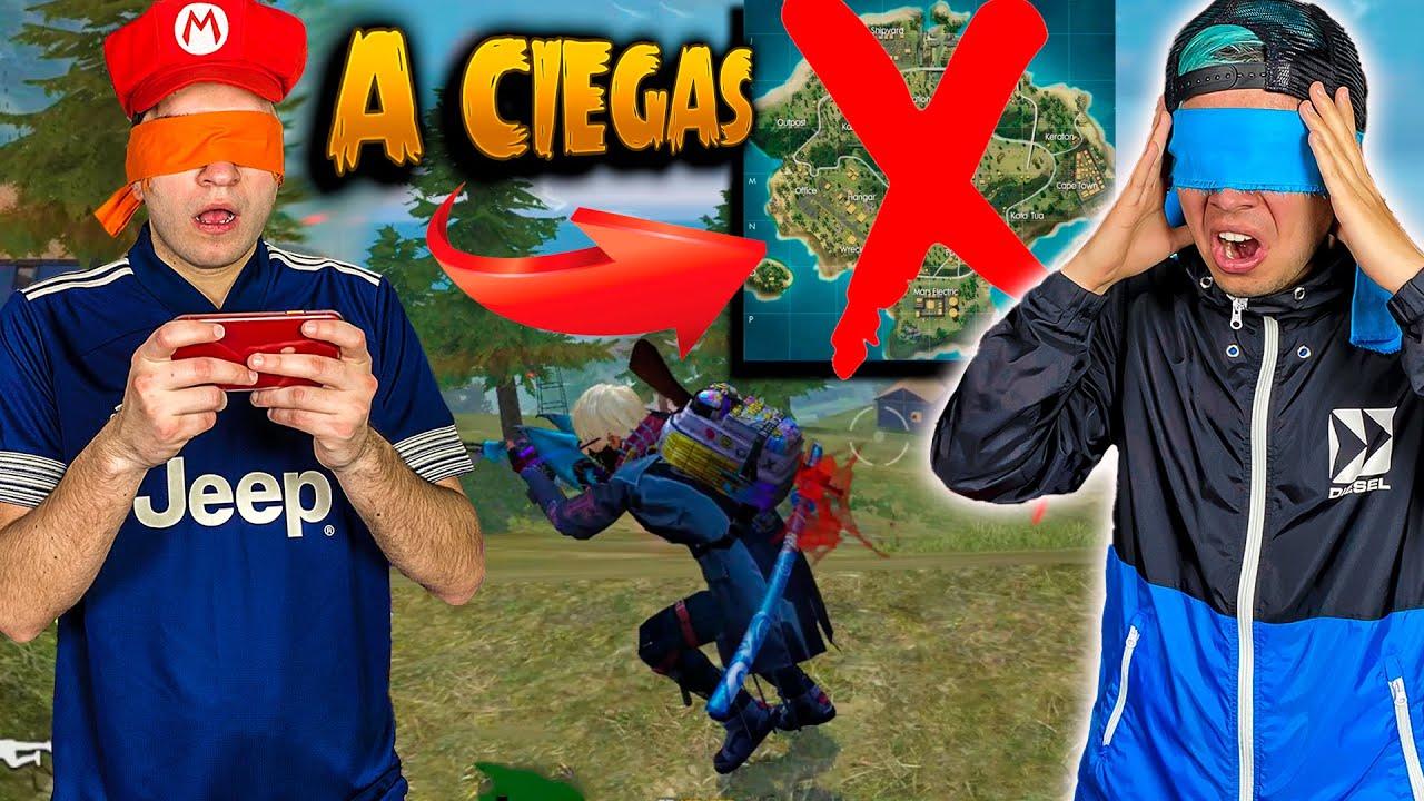 JUGANDO FREE FIRE A CIEGAS POR PRIMERA VEZ (CHALLENGE EXTREMO) - CRACKS