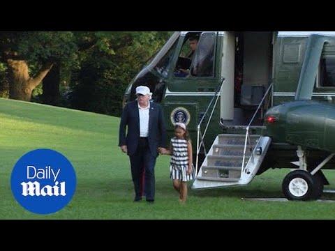 Trump returns to White House as he threatens government shutdown
