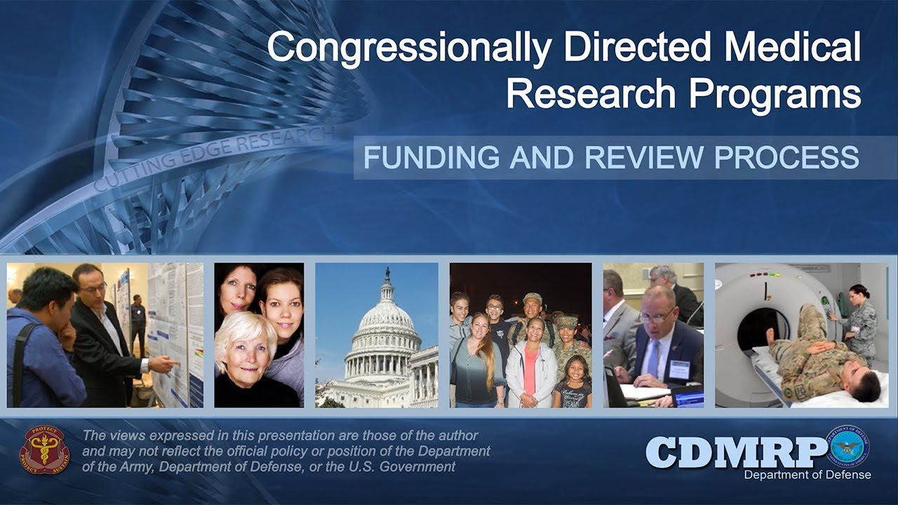 Autism Research Program Congressionally Directed Medical >> Cdmrp Funding And Review Process About Us Congressionally Directed