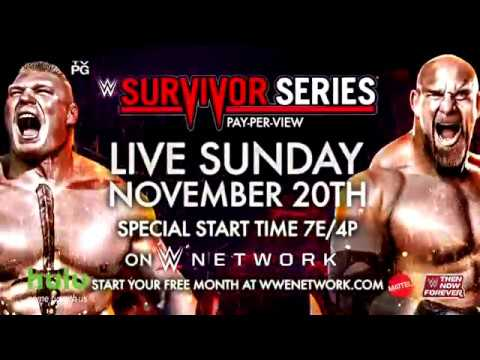 WWE Survivor Series 2016 – Live Sunday, November 20