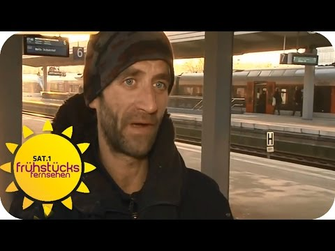 Bettlerei in Regionalzügen   SAT.1 Frühstücksfernsehen