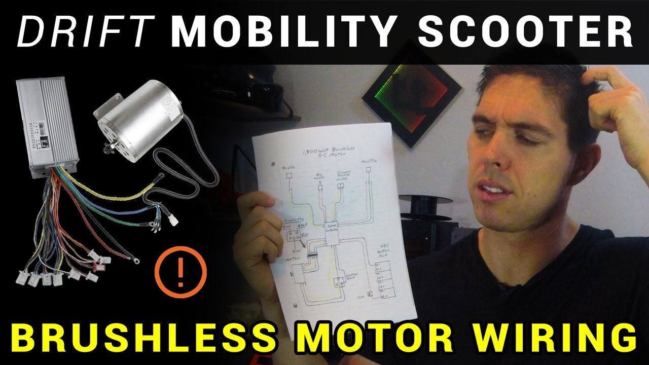 How To Esc Brushless Motor Wiring Drift Mobility Scooter Trike Part 2