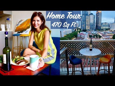 My Minimalist Apartment Tour in Singapore (470 sq ft)