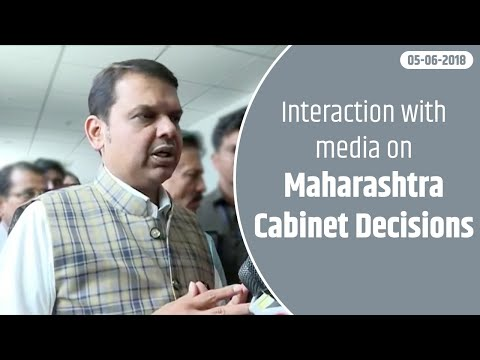 CM Devendra Fadnavis interacted with media on today's Maharashtra Cabinet Decisions