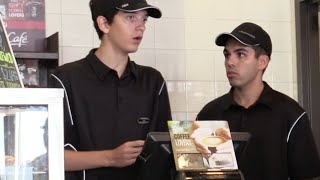 Fake McDonalds Employee Prank! (BEHIND THE COUNTER) thumbnail