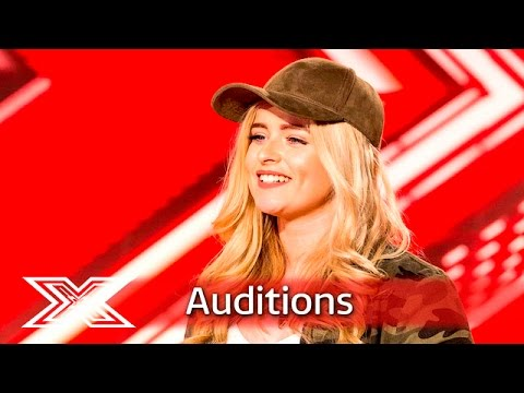 Caitlyn leaves Nicole emotional with Kelly Clarkson hit   Auditions Week 1   The X Factor UK 2016
