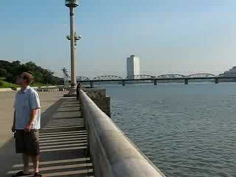 Taedong Promenade near the Tower of the Juche Idea