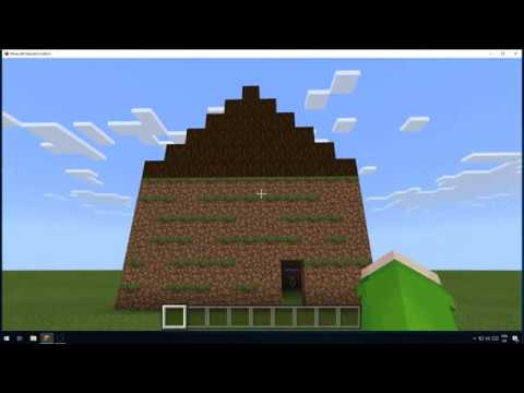 Minecraft Education Edition How to Code a House YouTube