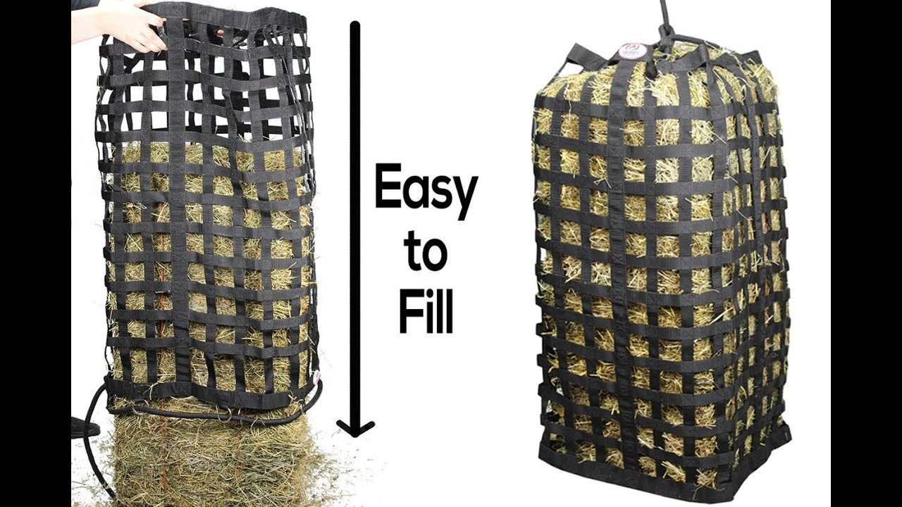 Derby Originals Xl Go Around 4 Sided Slow Feed Hay Bale Bag Patented