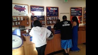 Metro PCS Employee In The Back Of The Store Doing The Unthinkable.
