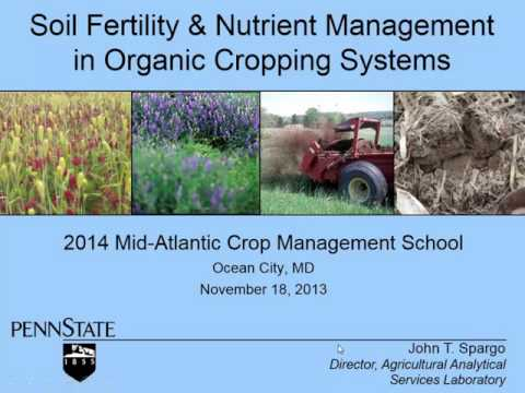 Soil Fertility and Nutrient Management in Organic Cropping Systems