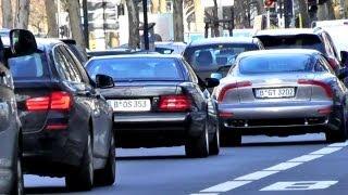 Traffic Verkehr in Berlin City Kudamm - Porsche Cayenne Maserati GT Mercedes SL BMW 5er