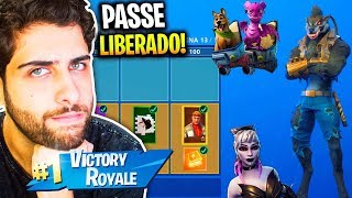 I RELEASED THE ENTIRE BATTLE PASS OF SEASON 6! -FortNITE