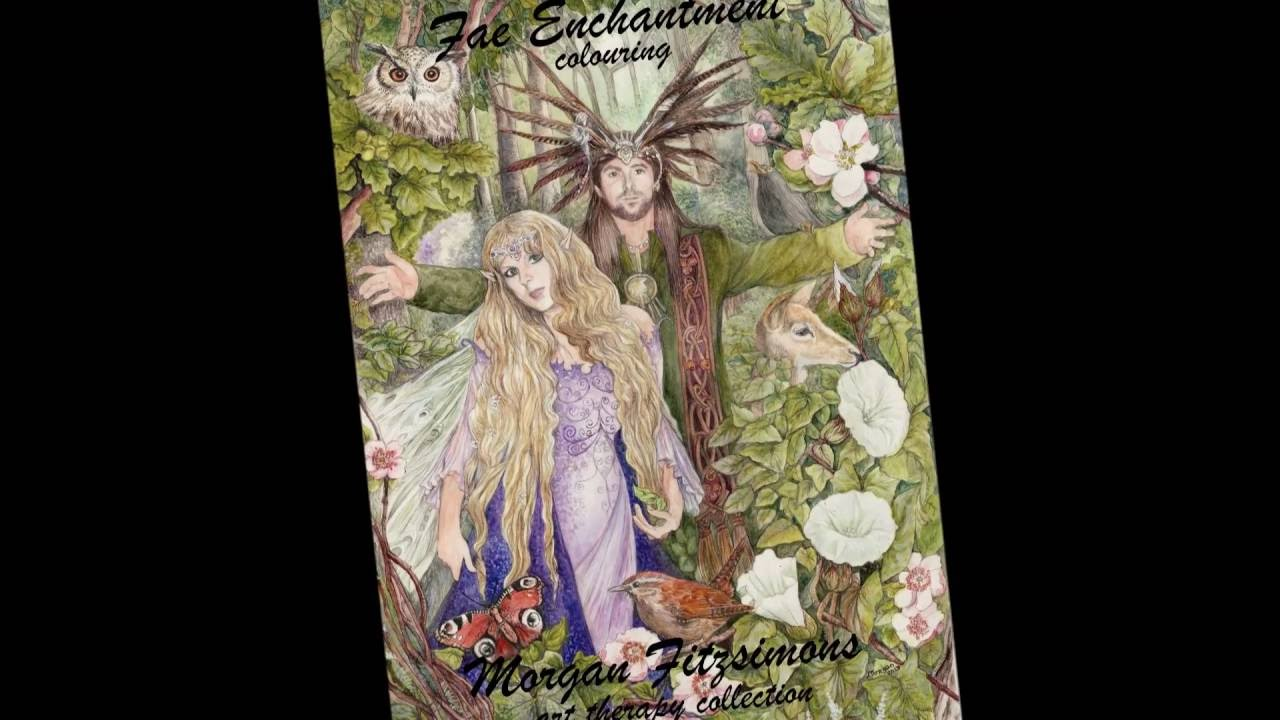 Fae Enchantment Colouring Book Preview 2016 By Morgan Fitzsimons