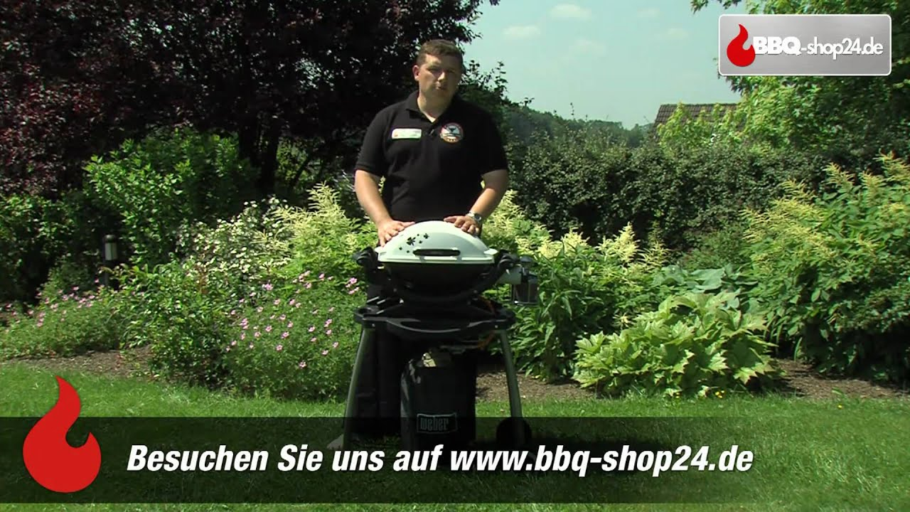 Pulled Pork Gasgrill Q 220 : Weber grill q 100 gasgrill youtube