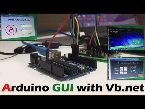 Arduino + vb.net Advanced UI Home Automation Demo | Led Control with GUI