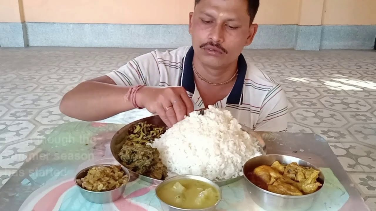 Day by Day I Increased My Rice Eating || Rice with Chicken | Bottle Gourd || Spinach