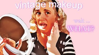 Get Ready With Me - Trying Authentic Vintage Makeup Tutorials