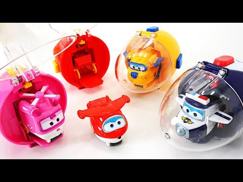 Thumbnail: Super Wings capsule launcher Turbo Egg Flip & Fly and surprise egg play with Tayo - DuDuPopTOY