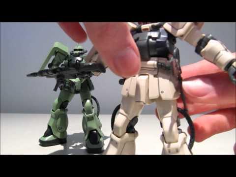 1/144 HGUC Zaku II F2 (Zeon and EFSF) review